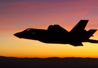 F-35 Lightning II Joint Strike Fighter undergoing a night test flight