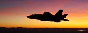 F-35 Lightning II Joint Strike Fighter undergoing a night test flight